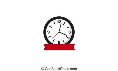 ruban, horloge, heure, temps