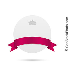 ruban rose, couronne, carte voeux