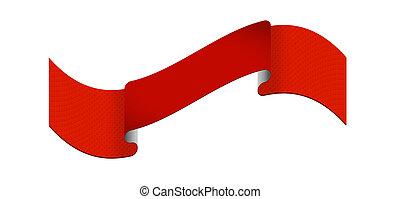 ruban rouge, étiquette