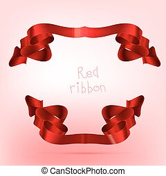 ruban, rouges