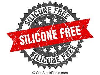 ruban, signe, stamp., gratuite, grunge, silicone, rond