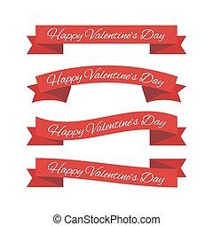 rubans, jour, valentine