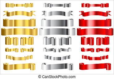 rubans, métallique