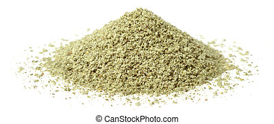 rubbed sage isolated on white