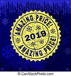 Rubber AMAZING PRICE! Stamp Seal on Winter Background