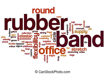 Rubber band word cloud