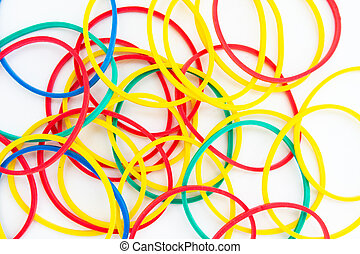 rubber bands on a white background