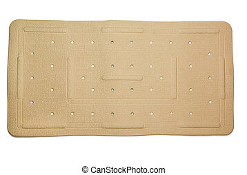 Rubber bath mat - Anti-fungal, slip resistant rubber bath...