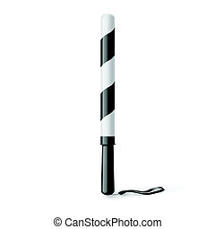 Rubber Baton - Illustration of Fun Traffic Police Stick with...