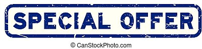 rubber, blauwe , bijzondere , plein, zeehondje, aanbod, grunge, witte , postzegel, achtergrond