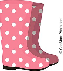 Rubber boots icon. Gumboots isolated on white background. Wellingtons vector illustration.