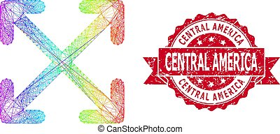Rubber Central America Stamp and Bright Net Enlarge Arrows