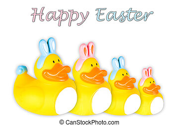 Rubber duck family Easter bunnies