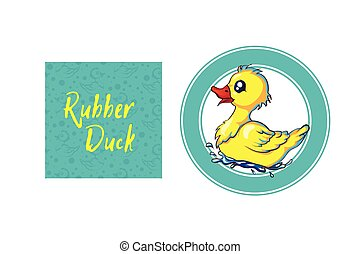 rubber duck pattern with lots of yellow funny ducks