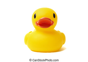 Rubber Duck - Yellow rubber duck isolated on white...
