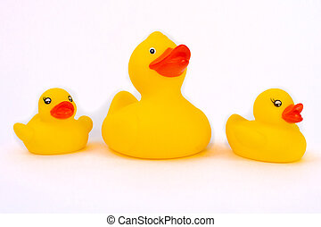 Rubber duck with ducklings