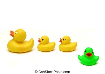 Rubber ducks - concept of \\\'odd one out\\\' or its good to...