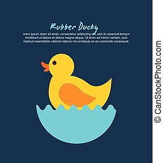 rubber ducky cartoon icon vector illustration design graphic