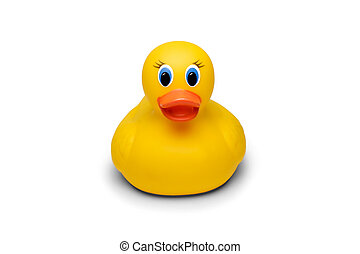 Rubber ducky isolated on a white background.
