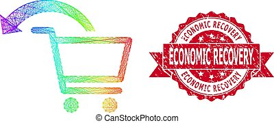 Rubber Economic Recovery Stamp Seal and LGBT Colored Network...