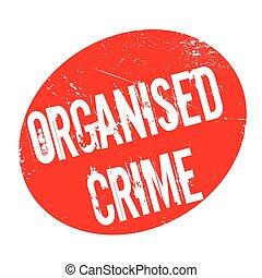 rubber, georganiseerde, misdaad, postzegel