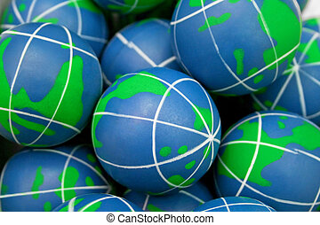 Rubber globes