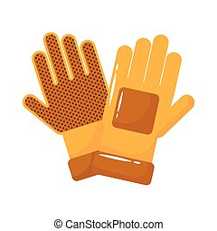 rubber gloves accessory flat style vector illustration design