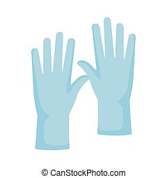 rubber gloves accessory isolated icon vector illustration design