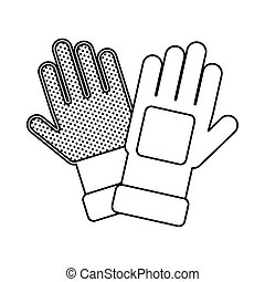 rubber gloves accessory line style vector illustration design