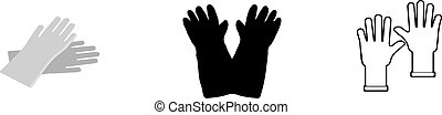 Rubber gloves icon isolated on background