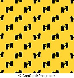 Rubber gloves pattern seamless vector repeat geometric yellow for any design