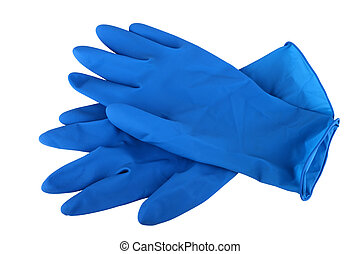 rubber gloves - Rubber gloves isolated on white background