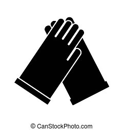 rubber gloves silhouette style icon