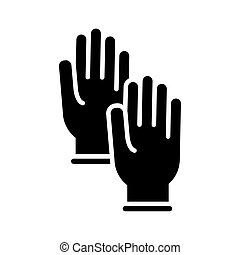 rubber gloves silhouette style icon vector illustration design