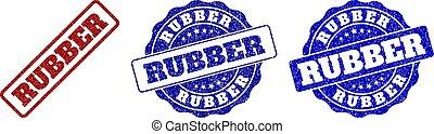 RUBBER Grunge Stamp Seals
