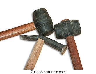 rubber, hamer