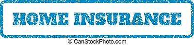 rubber, huis verzekering, postzegel