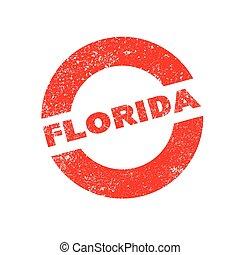 Rubber Ink Stamp Florida
