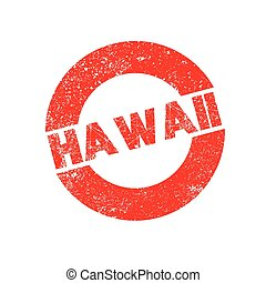 Rubber Ink Stamp Hawaii