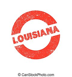 Rubber Ink Stamp Louisiana