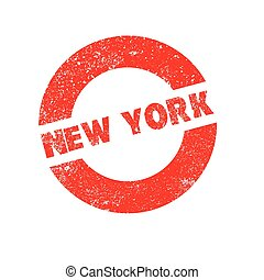 Rubber Ink Stamp New York