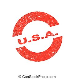 Rubber Ink Stamp USA