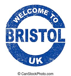 Rubber Ink Stamp Welcome To Bristol UK