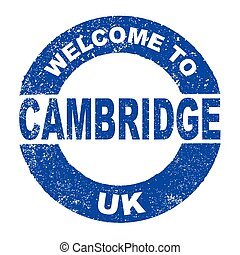 Rubber Ink Stamp Welcome To Cambridge UK