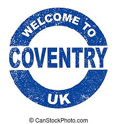 Rubber Ink Stamp Welcome To Coventry UK