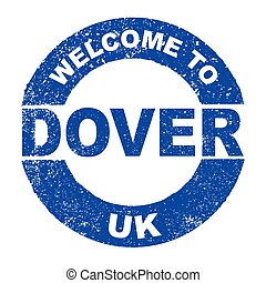 Rubber Ink Stamp Welcome To Dover UK