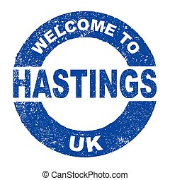Rubber Ink Stamp Welcome To Hastings UK