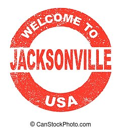 Rubber Ink Stamp Welcome To Jacksonville USA