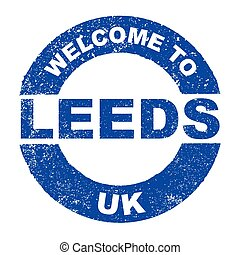 Rubber Ink Stamp Welcome To Leeds UK