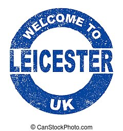 Rubber Ink Stamp Welcome To Leicester UK